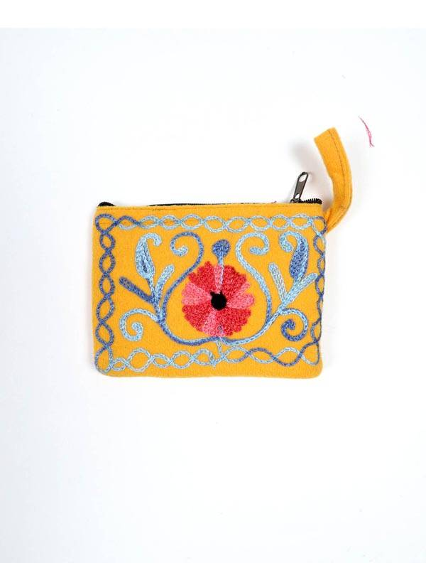 Monedero Piel melocotón tibet bordado [MOKA01] para comprar al por Mayor o Detalle en la categoría de Carteras / Monederos