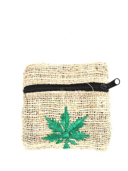 monederos de cáñamo - hemp con marihuana bordada para Comprar al mayor o detalle