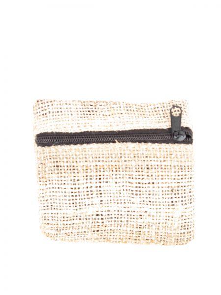 ZAS robapinzas.com   monedero de cáñamo-hemp liso con cremallera lateral, medidas aprox 9x8cm
