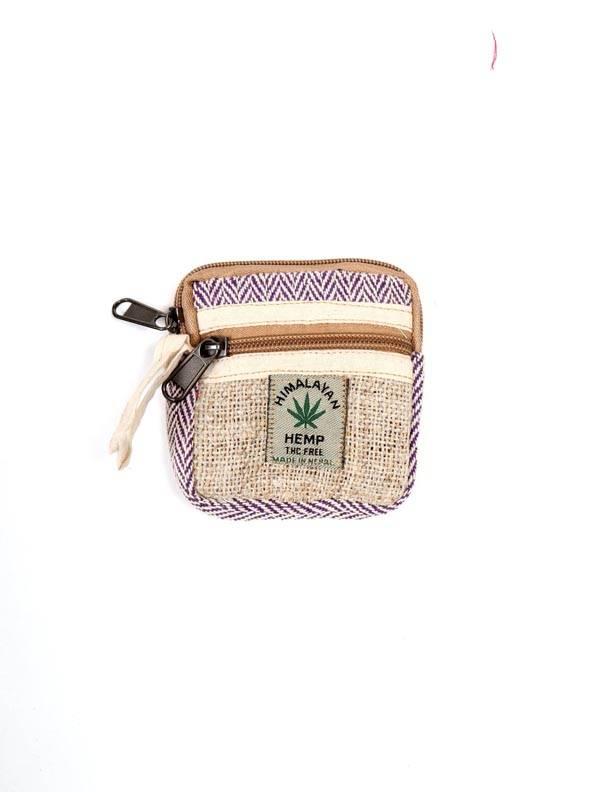 Bolsos Mochilas y Riñoneras de Cáñamo - Monedero de Cáñamo y algodón MOKA14 para comprar al por Mayor o Detalle en la categoría de Complementos Hippies Alternativos