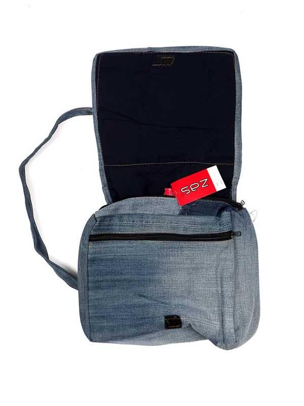 Mochila fabricada con pantalones Jeans Reciclados - Detalle Comprar al mayor o detalle