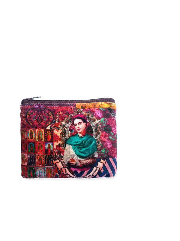 Frida Kahlo Taschen und Geldbörsen - Große Geldbörse mit Frida Kahlo Print. MOSMPO, um Großhandel oder Detail in der Kategorie des alternativen Hippie-Zubehörs zu kaufen