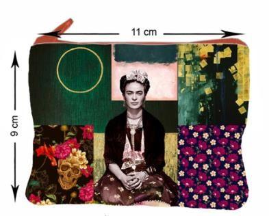 Monedero Grande Estampados Frida Kahlo. - Detalle Comprar al mayor o detalle