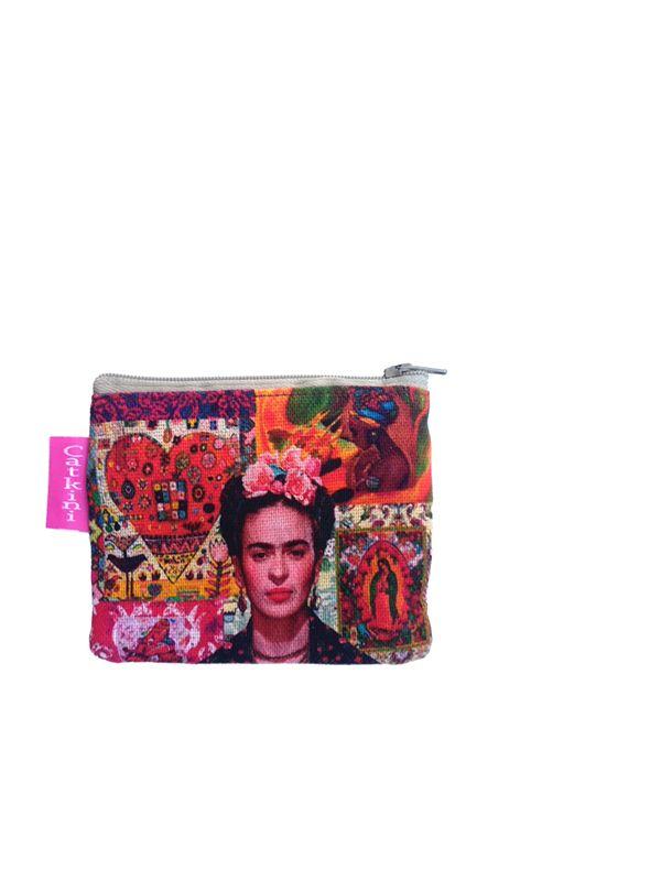 Monedero Grande Estampados Frida Kahlo. MOSMPO para comprar al por mayor o detalle  en la categoría de Complementos Hippies Étnicos Alternativos.