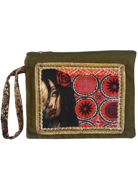 Colección Catkini - Frida Kahlo - Monedero Sobre Frida Kahlo Catkini [MOWL01] para comprar al por mayor o detalle  en la categoría de Complementos Hippies Étnicos Alternativos.