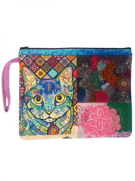 Colección Catkini - Frida Kahlo - Neceser Estampados, Frida Kahlo Catkini [NEINC01] para comprar al por mayor o detalle  en la categoría de Complementos Hippies Étnicos Alternativos.
