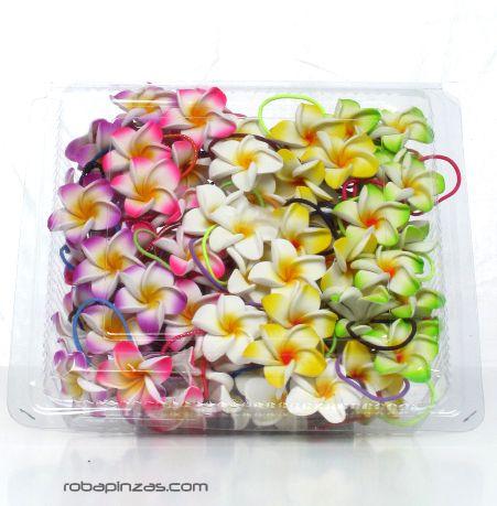 Flores de EPP con goma para el pelo, variedad de colores y formas Comprar - Venta Mayorista y detalle
