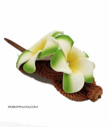 Flores de EPP sobre pasador de rafia. variedad de colores Comprar - Venta Mayorista y detalle