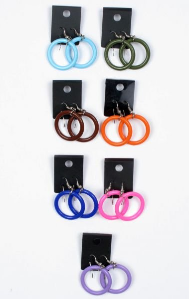 Outlet Bisutería hippie - pack pendientes de plastico con enganche de metal, 7 uds [PACK4] para comprar al por mayor o detalle  en la categoría de Outlet Hippie Étnico Alternativo.