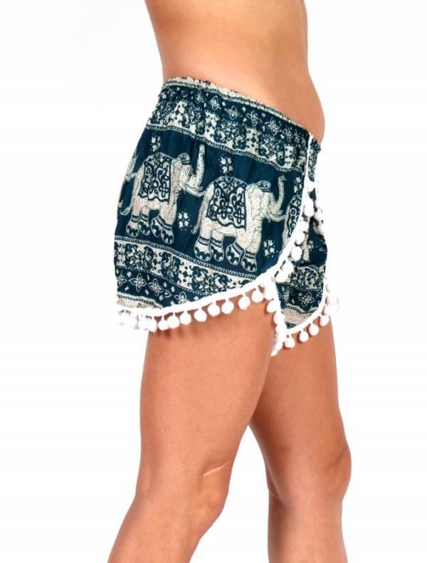Pantalones Cortos Hippie Ethnic - Pantalon corto rayón estampado Elefantes PAET01 para comprar al por Mayor o Detalle en la categoría de Ropa Hippie Alternativa Chicas