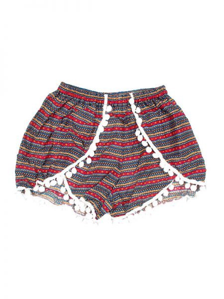 Pantalones Cortos Hippie Ethnic - Pantalón hippie corto PAET02 - Modelo Rosa