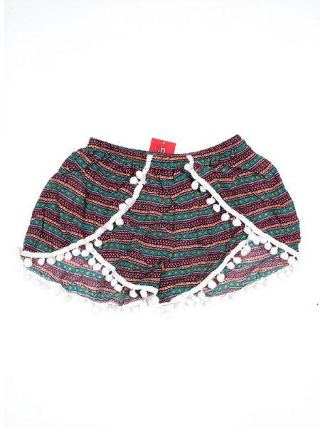 Pantalon corto rayón estampado ethnic - Verde 2 Comprar al mayor o detalle