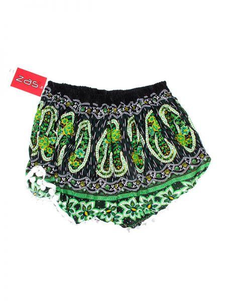 Pantalon corto rayón estampado paramec - Verde Comprar al mayor o detalle