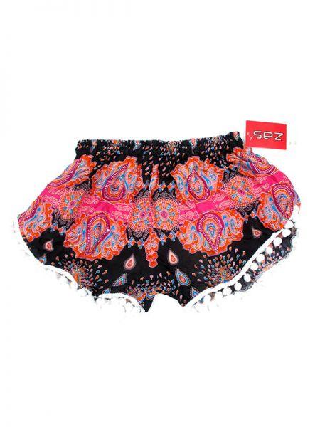 Pantalon corto rayón estampado - Rosa Comprar al mayor o detalle