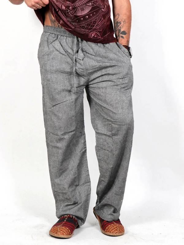 Pantalones Hippies - Pantalón hippie liso [PAEV06] para comprar al por mayor o detalle  en la categoría de Ropa Hippie Alternativa para Hombre.