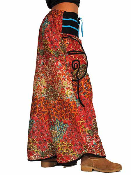 Pantalón amplio apto para tallas grandes en material estilo Comprar - Venta Mayorista y detalle