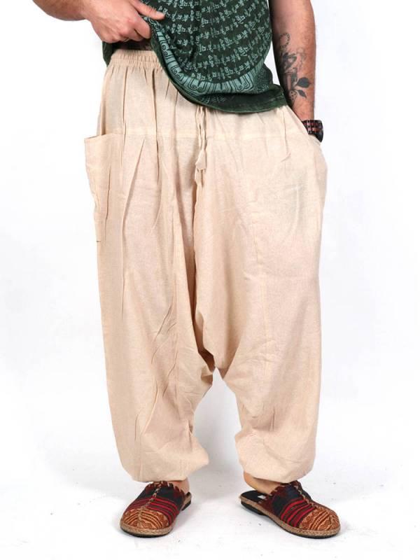 Pantalones Hippies - Pantalón Harem liso unisex [PAEV08] para comprar al por mayor o detalle  en la categoría de Ropa Hippie Alternativa para Hombre.