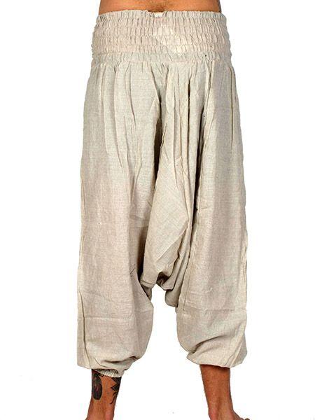 Pantalón hippie tiro bajo liso Unisex - Detalle Comprar al mayor o detalle