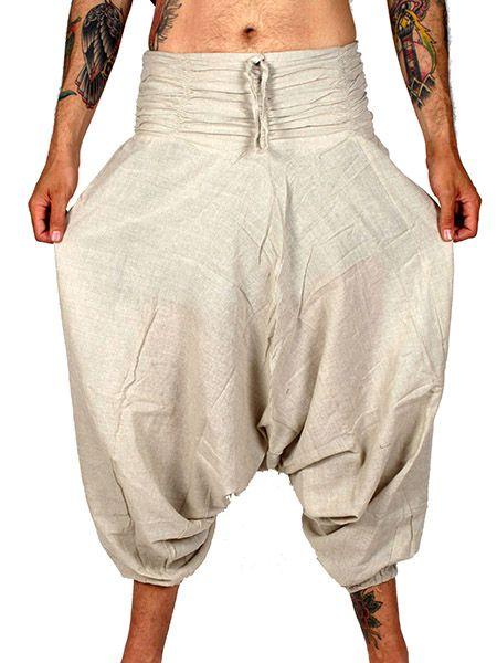 Pantalón hippie tiro bajo liso Unisex - Comprar al Mayor o Detalle