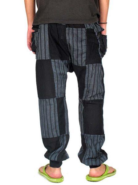 Pantalón hippie patchwork con varios bolsillos en los lalterales. Comprar - Venta Mayorista y detalle