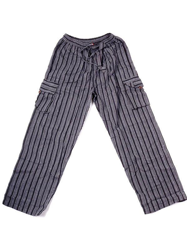 Pantalón hippie de rayas - Negro Comprar al mayor o detalle