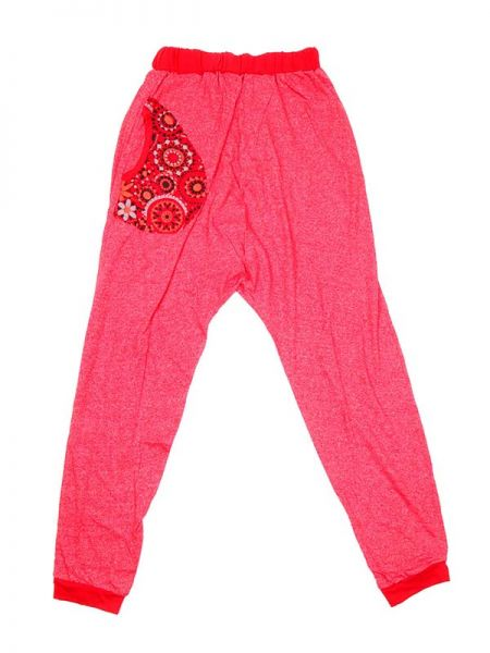 Pantalones Hippies Harem - Pantalon de tela tipo chandal PAEV18 - Modelo Rojo