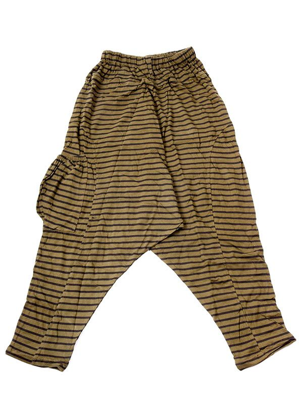 Pantalones Hippies Harem - Pantalon de algodón PAEV19 - Modelo Verde