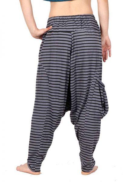 Pantalon de algodón de tela de rayas con tiro muy largo y bolsillo Comprar - Venta Mayorista y detalle
