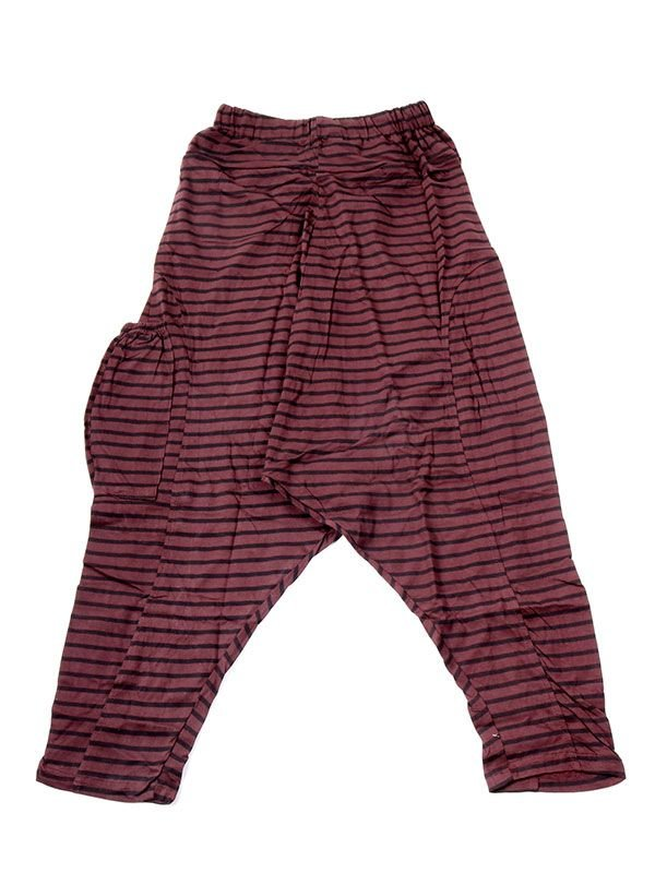 Pantalones Hippies Harem - Pantalon de algodón PAEV19 - Modelo Marrón