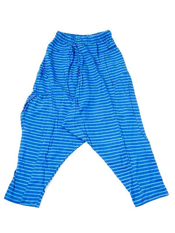 Pantalones Hippies Harem - Pantalon de algodón PAEV19 - Modelo Azul