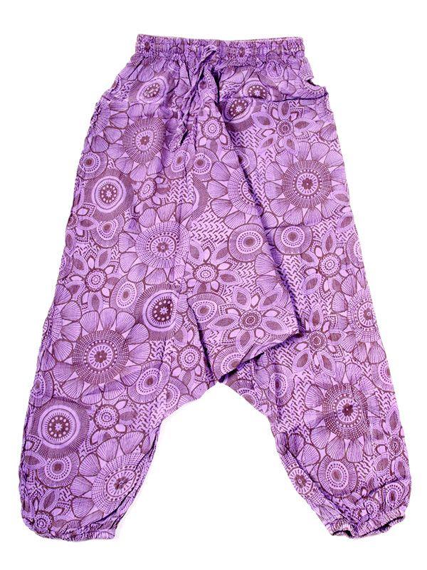 Pantalones Hippies - pantalón hippie, harem PAEV21 - Modelo Morado