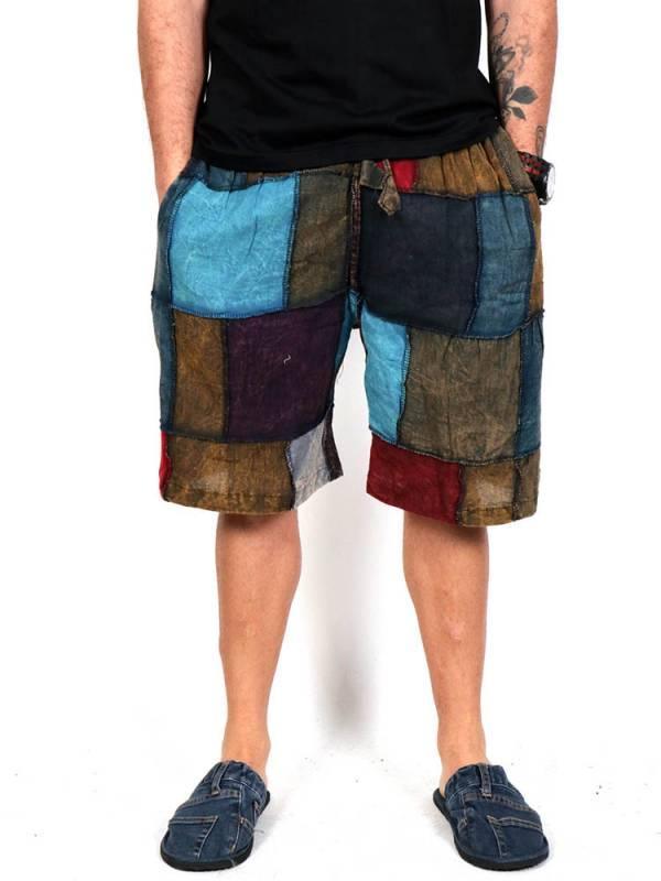 Pantalón hippie corto Patchwork [PAEV26] para comprar al por Mayor o Detalle en la categoría de Pantalones Hippies y Alternativos