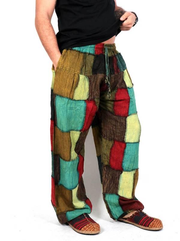 Pantalón Hippie patchwork unisex [PAEV33] para comprar al por Mayor o Detalle en la categoría de Pantalones Hippies y Alternativos