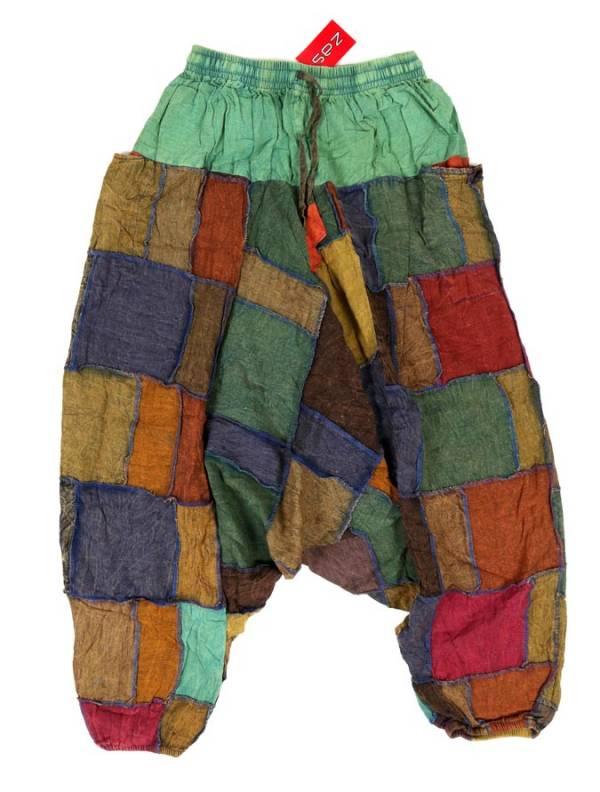 Pantalón Aladin patchwork unisex - Verde Comprar al mayor o detalle