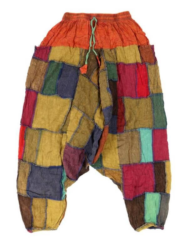 Pantalón Aladin patchwork unisex - Naranja Comprar al mayor o detalle