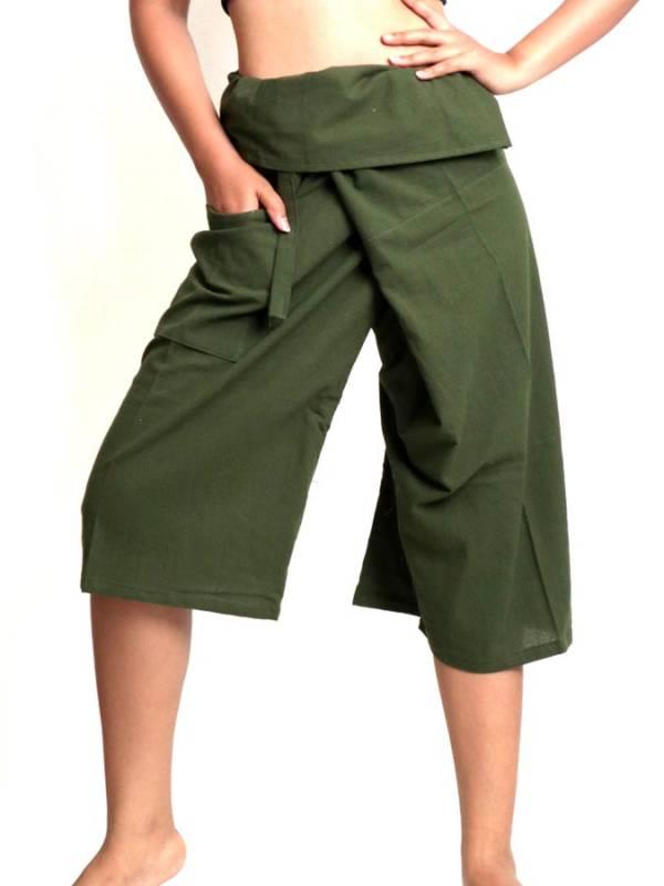 Pantalon Thai fisherman corto con bolsillo [PAFHP] para comprar al por Mayor o Detalle en la categoría de Pantalones Hippies Harem Yoga