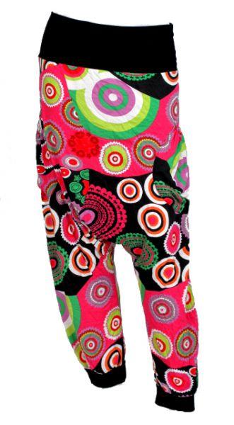 Pantalón hippie largo estampado mandalas con puño y cintura lisa [PAFI10] para Comprar al mayor o detalle