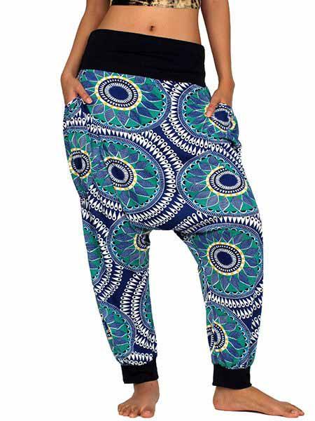 Pantalon árabe hippie estampado mandalas para Comprar al mayor o detalle