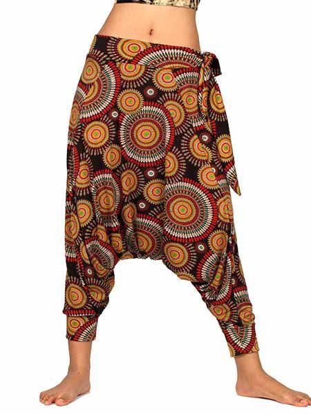 Pantalon árabe hippie estampado mandalas pequeños Comprar - Venta Mayorista y detalle