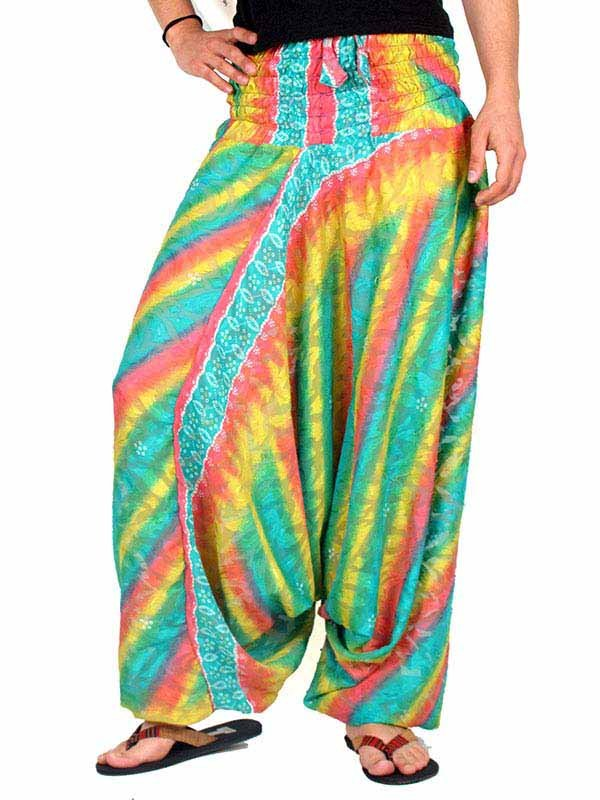 Pantalones hippies saris reciclados. - Comprar al Mayor o Detalle