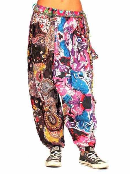 Pantalón hippie flower power de parches Comprar - Venta Mayorista y detalle