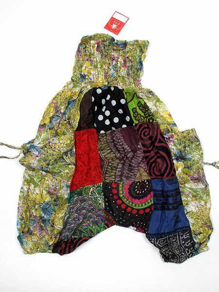 Pantalón bombacho corto hippie - Verdes Comprar al mayor o detalle