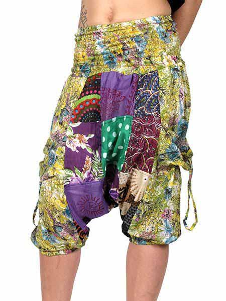 Pantalón hippie de parches estampados, corto por debajo de Comprar - Venta Mayorista y detalle