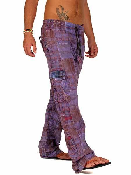 Pantalón hippie patchwork lavado a la piedra Comprar - Venta Mayorista y detalle