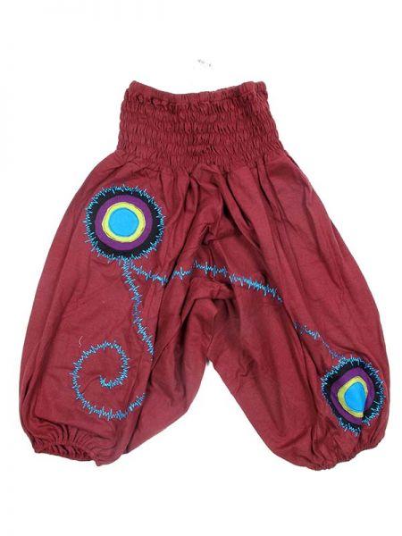 Pantalón de algodón decorado con bordados y parches Comprar - Venta Mayorista y detalle
