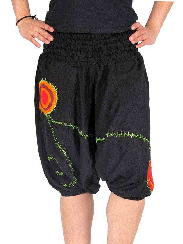 Pantalón bombacho corto liso hippie Comprar - Venta Mayorista y detalle