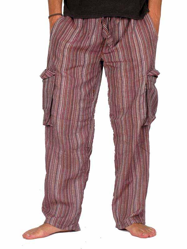 Pantalones Hippies - Pantalón hippie de rayas [PAHC27] para comprar al por mayor o detalle  en la categoría de Ropa Hippie Alternativa para Hombre.
