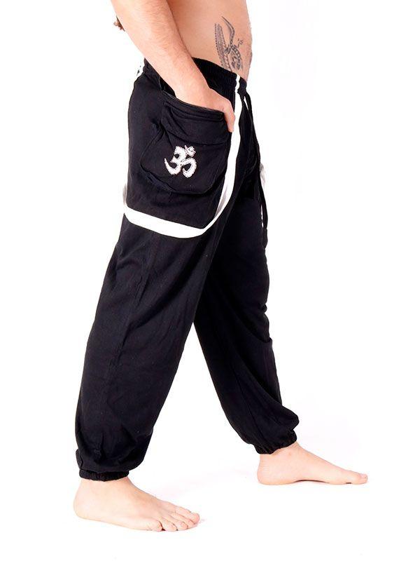 Pantalones Hippies - Pantalón Hippie con OM en bolsillo [PAHC31] para comprar al por mayor o detalle  en la categoría de Ropa Hippie Alternativa para Hombre.