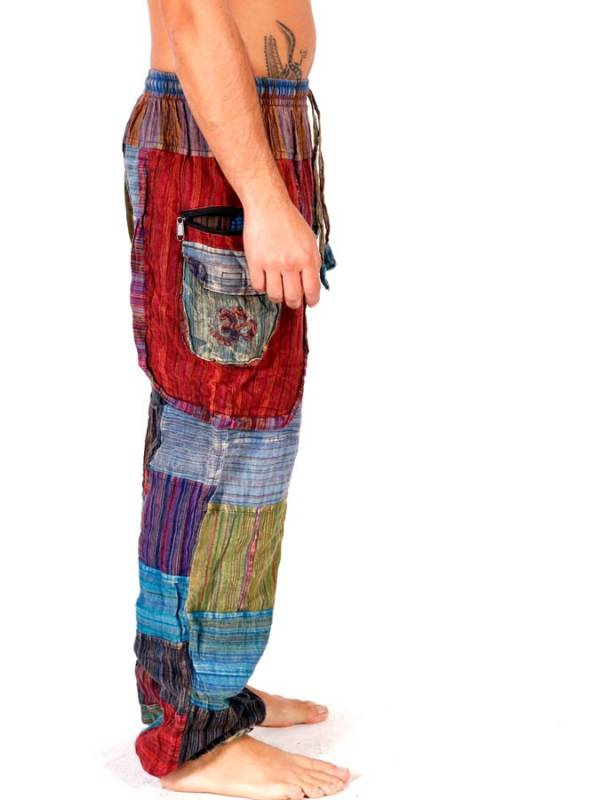 Pantalón hippie Patchwork PAHC32 para comprar al por mayor o detalle  en la categoría de Ropa Hippie Alternativa para Hombre.