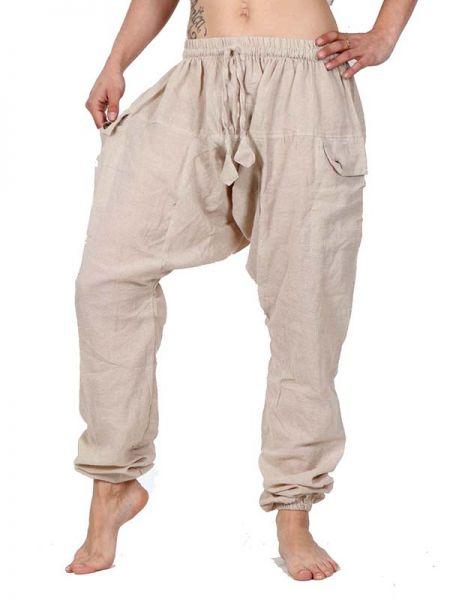 Pantalon de algodón de tela lisa con tiro largo y bolsillos Comprar - Venta Mayorista y detalle